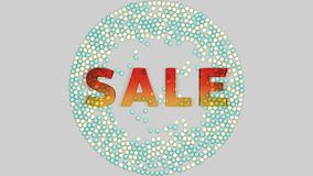 Wielo- barwione piłki spadają na sprzedaż znaku ilustracji