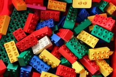 Wielo- barwioni duplo lego bloki fotografia royalty free