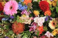 Wielo- barwioni ślubów kwiaty Obraz Royalty Free