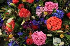 Wielo- barwioni ślubów kwiaty Obrazy Stock