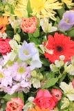 Wielo- barwioni ślubów kwiaty Zdjęcia Stock