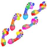 wielo- barwioni odcisk stopy ilustracji