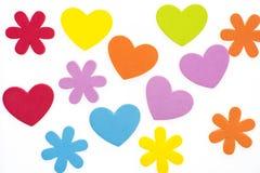 Wielo- barwioni serca Zdjęcie Stock
