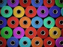 Wielo- barwiony brogujący nici tło ilustracja 3 d royalty ilustracja