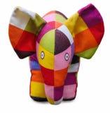 Wielo- coloured childs słonia zabawka fotografia stock