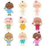 Wielo- grupa etnicza dzieci royalty ilustracja