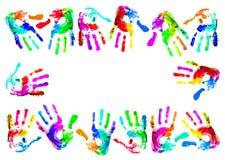 wielo- handprints ilustracji