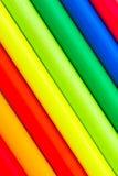 wielo- jaskrawy barwioni wielo- ołówki Obrazy Royalty Free