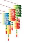 wielo- kolorów chińscy lampiony Fotografia Royalty Free
