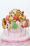 Wielo- kolorów ciastka Zdjęcia Stock