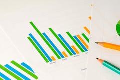 Wielo- kolor prętowe mapy z ołówkami Obraz Royalty Free