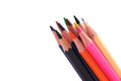 Wielo- kolorów ołówki Zdjęcia Royalty Free