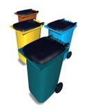 wielo- kosze barwili odpadów Fotografia Royalty Free