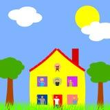Wielo- pokoleniowy gospodarstwo domowe ilustracji