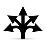 Wielo- wyborowa drogowa strzałkowata wektorowa ikona Obraz Stock
