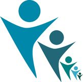 Wielo- wymiarowi ludzie logo projekta royalty ilustracja
