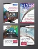 Wielobok broszurki Nowożytny wektor CMYK Nowożytny A4 royalty ilustracja