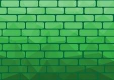Wielobok cegły zieleń Zdjęcia Stock