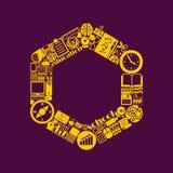 Wielobok ikona Zdjęcia Royalty Free