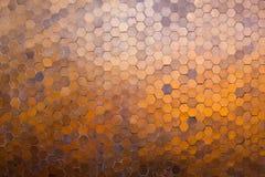 Wielobok mozaiki brązu tło Fotografia Royalty Free
