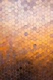Wielobok mozaiki brązu tło Obrazy Stock