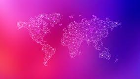 Wielobok światowa mapa na stubarwnym tle ilustracja wektor