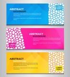 Wieloboka sztandaru kolorowy abstrakcjonistyczny projekt Zdjęcie Stock