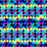 Wieloboka tła psychodeliczni barwioni geometryczni piksle royalty ilustracja