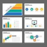 wielocelowego infographic prezentaci broszurki ulotki ulotki strony internetowej szablonu płaski projekt Zdjęcie Stock