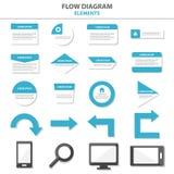Wielocelowi Infographic elementy i ikony prezentaci szablonu płaski projekt ustawiają dla reklamowej marketingowej broszurki ulot Fotografia Stock