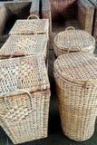Wielocelowy gospodarstwo domowe bambusa kosz Zdjęcia Royalty Free