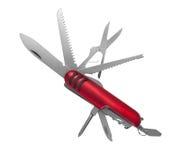Wielocelowy nóż odizolowywający na bielu zdjęcie royalty free