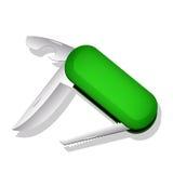 Wielocelowy nóż. Wektorowa ilustracja Obrazy Stock