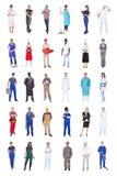 Wieloetniczni ludzie z różnorodnymi zajęciami Zdjęcia Royalty Free