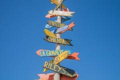 Wielokierunkowy guidepost zdjęcie stock
