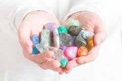 Wielokrotność semi cenni gemstones Zdjęcia Royalty Free