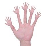 Wieloskładnikowe ręki Obrazy Stock