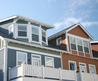 wielokrotności linii dach Fotografia Stock