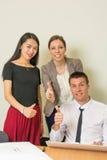 Wielokulturowa drużyna przy biurem Fotografia Royalty Free