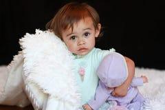 wielokulturowa milutka dziecko dziewczyna Zdjęcia Stock