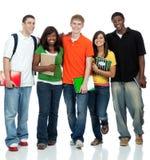 wielokulturowi szkoła wyższa ucznie Zdjęcie Stock