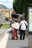 Wielokulturowy życie w Ładnym, Francja Obrazy Royalty Free