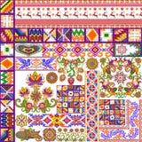 Wielokulturowy kwiecisty abstrakcjonistyczny dywan ilustracji