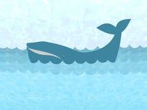 Wieloryb w oceanie Fotografia Stock