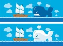 Wieloryba atak Fotografia Royalty Free