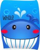 Wielorybi śliczny w oceanu tle Zdjęcie Stock