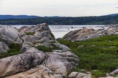 Wielorybi dopatrywanie punkt w Quebec, Kanada zdjęcie royalty free