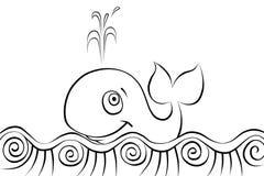 Wielorybi smims w morzu Obrazy Royalty Free