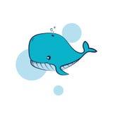 Wielorybia ilustracja Fotografia Stock