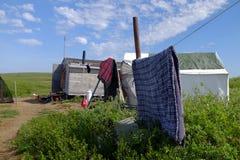 Wielorybnictwo obóz w Arktycznym Zdjęcie Stock